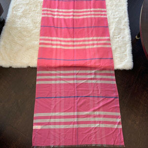 "Burberry 95x27"" Pink Plaid Scarf/Wrap"